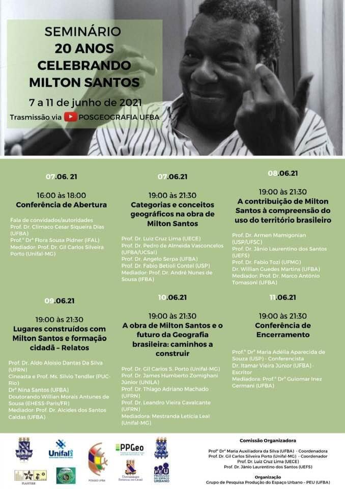 Seminário 20 anos celebrando Milton Santos